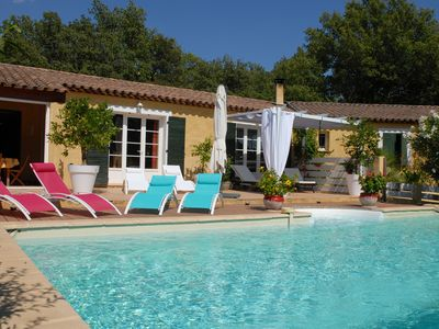 Photo for VAR - Provencal villa, Between sea and Verdon - vineyards, olive trees, 200 m2, swimming pool
