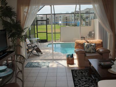 Photo for Princess Palm Paradise, 3 Bedroom, 3 Bathroom, sleeps 6 with a private pool