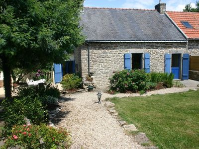 Photo for Breton character house with a terrace, an enclosed garden and a private tennis