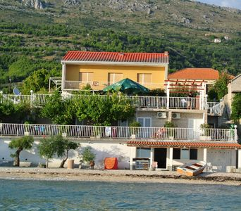 Photo for Holiday home first row on the sea, for famiies and groups, for 16 people,