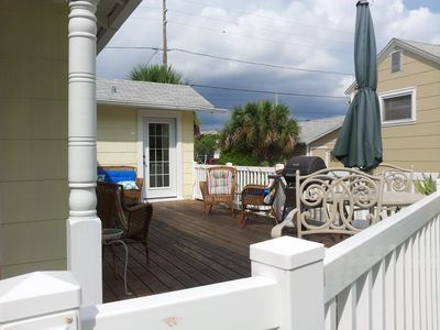 Our large deck allows plenty of space to relax, or grill out and entertain!