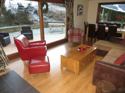 Photo for Luxury Ski and Summer Apartment - Hot Tub, Log Fire, Free Wifi, amazing views