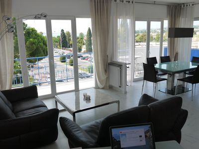 Photo for SUPERB VIEWS APARTMENT - SEA FRONT PANEL AND RACECOURSE + GARAGE