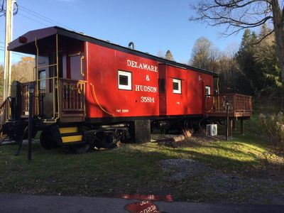 Photo for Cozy Caboose in Town