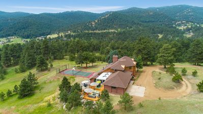 Private retreat on 17 acres in the foothills of Denver.