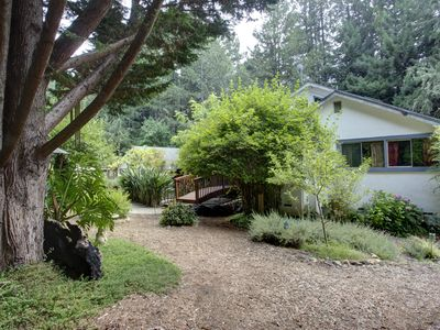 Photo for Green Castle Rock Gardens ~ 5 acres of Gardens and Redwoods. Relax or entertain