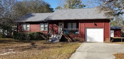 Photo for 3 BR, 2 BA;  CABIN @ BEACH - PET FRIENDLY; ROOM TO PARK BOAT; LARGE FENCED YARD