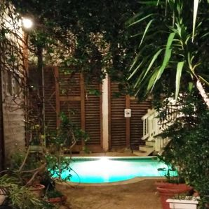 Pool in private courtyard and carriage way