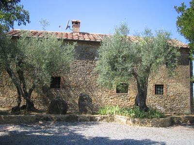 Photo for detached Cottage with garden and breathtaking view to the seaside and Tuscan hil