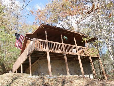 Photo for *Special* Beautiful Cabin Retreat! Listen to River From Hot Tub!! Gatlinburg/PF