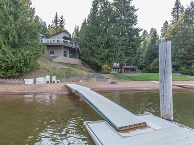 Photo for Waterfront Home on Sandy Beach on Lake Coeur D'Alene