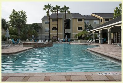 Unit is right by the pool access.
