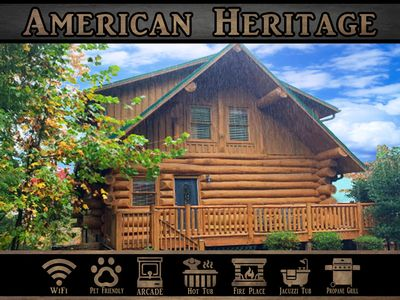 """Photo for """"American Heritage"""" - WiFi / Arcade Game / Hot Tub / Jacuzzi Tub"""