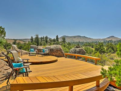 Photo for Del Norte Home on 50 Private Acres w/ 2-Level Deck