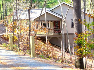 Photo for Peaceful wooded setting just a short commute to Asheville!