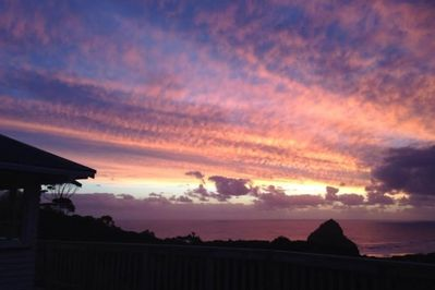 Outstanding sunsets over Lion Rock.