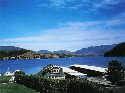 Photo for Placid Lake waterfront condo; staggering lake/mountain views; in town, sleeps 9