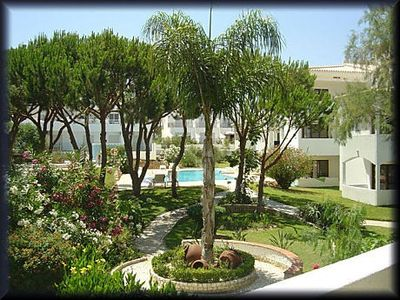 Photo for Apartment with balcony, garden and two swimming pools 200 meters from the beach