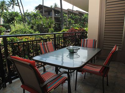Photo for Walk to ocean, two bedroom two bath condo with partial ocean view, Kona Makai #2101