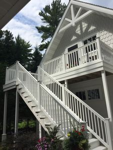 The Suite! Private stairs and deck.