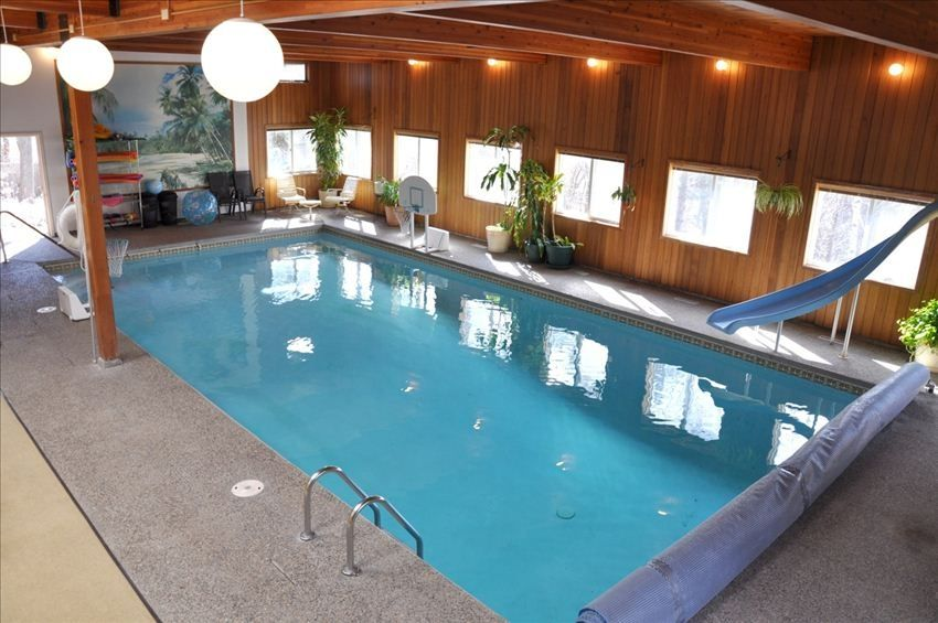 Home indoor pool and hot tub  HUGE Indoor Pool, Lovely Home, Large Yard, ... - VRBO