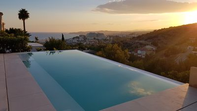 Photo for Ibiza Style villa with seaview & infinity pool