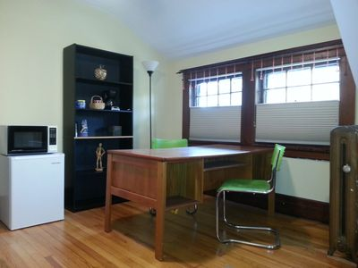 3rd floor sitting room with kitchenette amenities