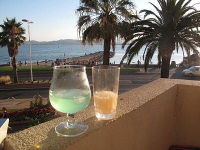 Photo for AIR CONDITIONED APARTMENT ON THE BEACH 85m VEILLAT OF SAINT RAPHAEL (VAR)