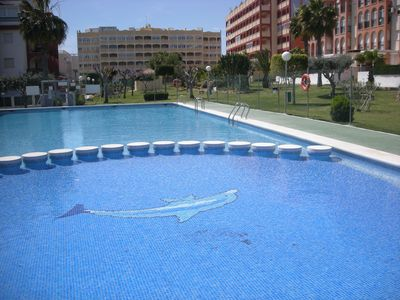 Photo for Luxury apartment in superb residence + pool and near the beach