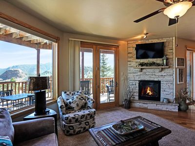 Photo for Bighorn Mountain 19B - 2 Br condo with private hot tub, Marys Lake and mountain views!