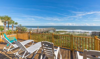 """Photo for Newly Remodeled Oceanfront """"Folly Drifter"""" w/ Beach Access & Private Deck"""