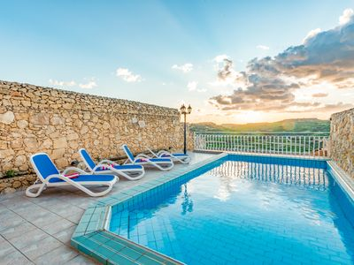 Photo for Villa with pool sea & valley views