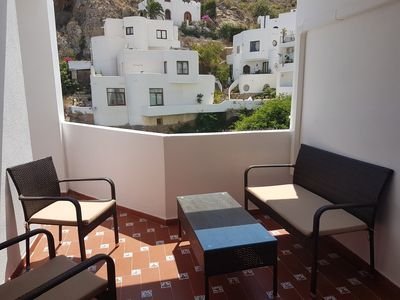 Photo for Beautiful one bedroom apartment in Mojacar Pueblo with swimming pool