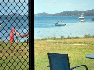 Photo for 5 'Harbourside' 3-7 Soldiers Point Road - ground floor waterfront unit