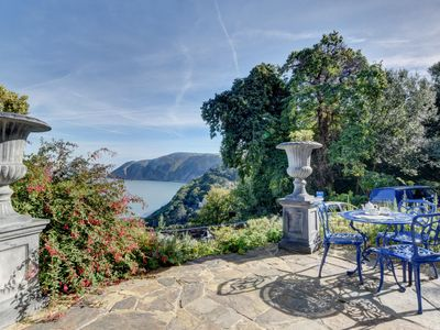 Photo for Stunning historical hilltop villa with sea views