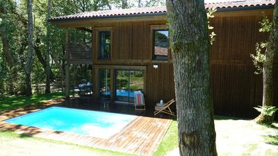 """Photo for """"Lou"""": Magnificent bioclimatic architect house in solid wood with swimming pool"""