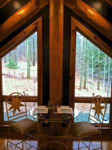 Year round woodland views from the dining area and all windows...