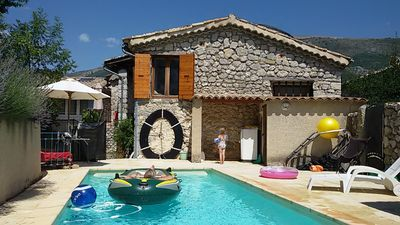 Photo for Charming holiday home with swimming pool in a quiet little village.