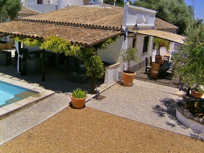 Photo for Detached, luxury authentic renovated villa with sea view, large private swimming pool