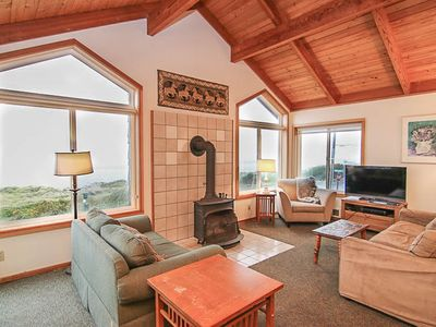 Photo for Steps To the Ocean, With Panoramic Views, Ocean-View Deck in Manzanita!