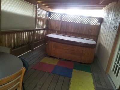 Photo for Hot Tub, Cozy and Private 2 bed mother-in-law apartment