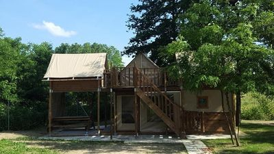 Photo for Camping du Lac **** - Perched Cabin 4 Rooms 6 People