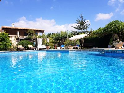 Photo for An oasis in Portocolom with private pool, barbecue, air conditioning and WIFI