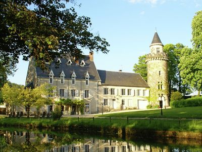 Photo for Luxury vacation castle with 3.5 hectares garden, pool and jacuzzi at Dijon