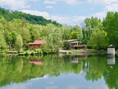 Photo for Gîte Prestige - Fishing cottage on the edge of a pond