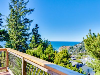 Photo for Spacious dog-friendly oceanside home w/private hot tub & views of the Pacific!