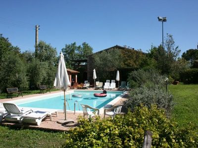 Photo for Apt in Old independent farmhouse  with pool and garden. Free wi-fi. Few kilometers from the sea.  Ca