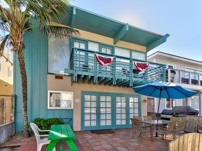 Photo for Entire duplex home w/ ocean view balcony & patio - steps to beach/Belmont Park!