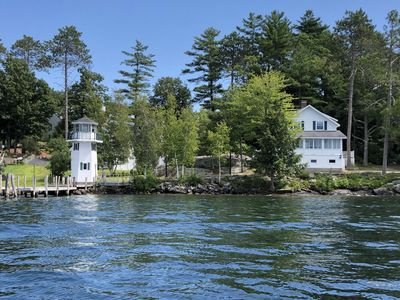 Photo for Lakefront Cottage with Lighthouse and Dock on Lake Winnipesaukee