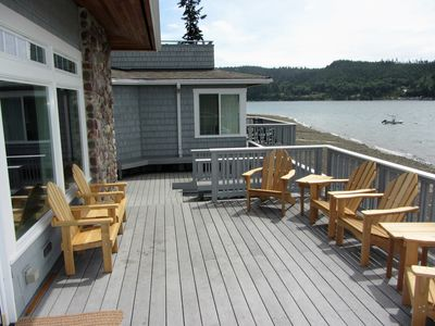 Your sunny deck right on the water!
